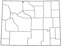 Location of Deaver, Wyoming
