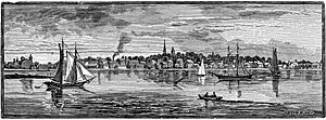 Warren Rhode Island 1886 engraving