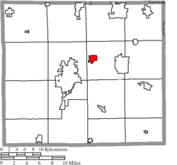 Location of Smithville in Wayne County