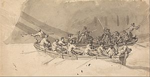 Samuel Scott - Two Boats with Crews, Study for The Royal William at Sea - Google Art Project