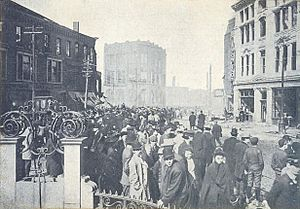 Square After Great Fire of 1908, Chelsea, MA
