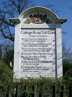 Table-of-tolls-College-Road-London-SE21-Tollgate