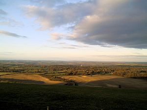 Combe Gibbet views - north