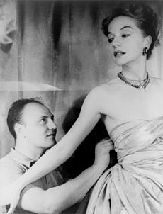 Pierre Balmain and Ruth Ford, photographed by Carl Van Vechten, November 9, 1947