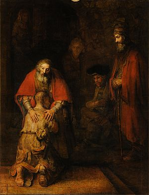 Rembrandt Harmensz van Rijn - Return of the Prodigal Son - Google Art Project
