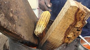 A process of Maize dish making 1
