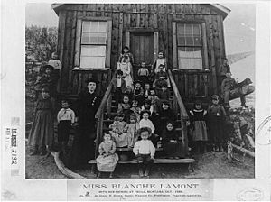 Blanche Lamont with students