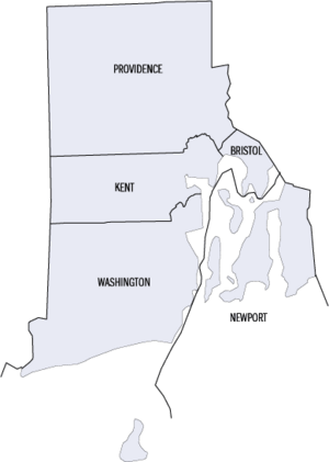 Rhode Island counties map