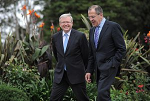 Rudd and Lavrov, NSW Government House