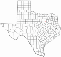 Location of Palmer, Texas