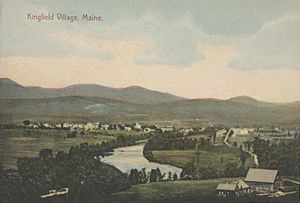 Bird's-eye View of Kingfield Village, ME