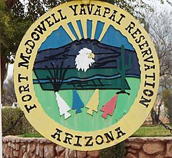 Fort McDowell Yavapai Nation-Fort McDowell Yavapai Reservation sign-1