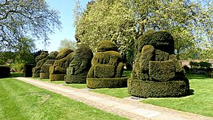 Topiary Animals at Hall Place