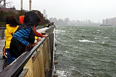 Hurricane Sandy East River Manhattan 1