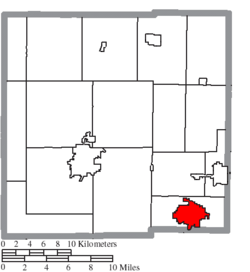 Location of Galion in Crawford County