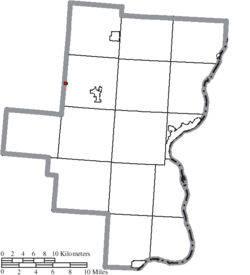 Location of Centerville in Gallia County