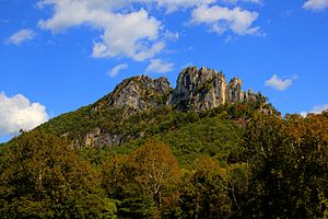 Seneca Rocks by Asilverstein Oct 2013 High Dynamic Range Merge from 7 Exposures