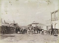 StateLibQld 1 257831 Gathering in Charters Towers at Mosman Street around 1888