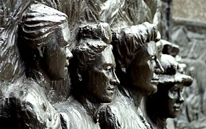 Tribute to the Suffragettes, close up