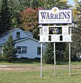WarrensWisconsinWelcomeSign