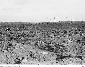 AWM E00961 - no mans land prior to attack