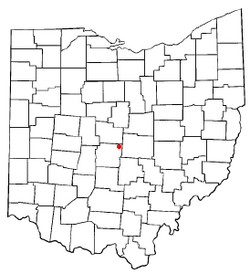 Location of New Albany, Ohio