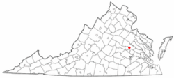 Location of Chamberlane, Virginia