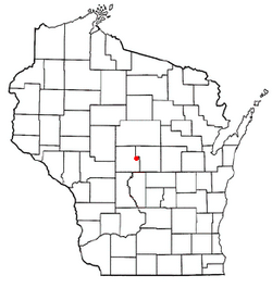 Location of Rudolph, Wisconsin