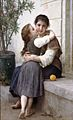 William-Adolphe Bouguereau (1825-1905) - A Little Coaxing (1890)
