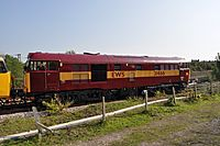 31466 leaving for Gloucester from the Dean Forest Railway.JPG