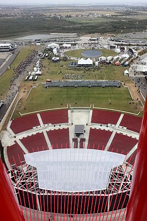 Austin360 amphitheater from tower 2013