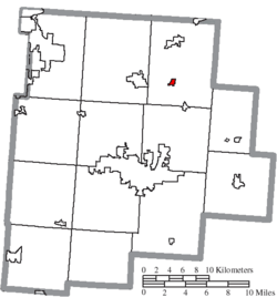 Location of Thurston in Fairfield County