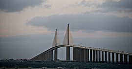 Sunshine Skyway on the Tampa Bay