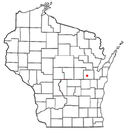 Location of Ellington, Wisconsin