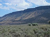 Abert Rim seen from Valley Falls, Oregon
