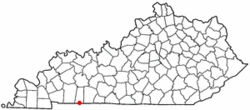 Location of Guthrie, Kentucky
