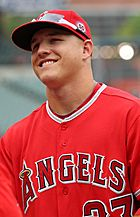 Los Angeles Angels center fielder Mike Trout (27) (5971760364)