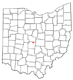 Location of Huber Ridge, Ohio