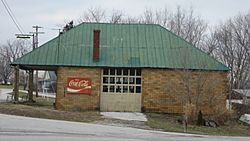 A former gas station at Sulphur