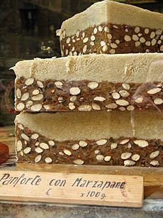 Panforte at a shop in San Gimignano