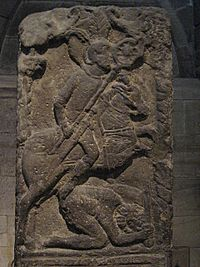 Tombstone of Flavinus, Roman Standard Bearer - detail - geograph.org.uk - 732240