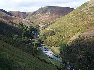 Carding Mill Valley from the Road By Burway Hill - geograph.org.uk - 258158