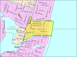 Census Bureau map of Avon-by-the-Sea, New Jersey