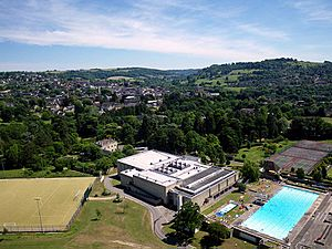 Kite aerial photo of Stroud Leisure Centre