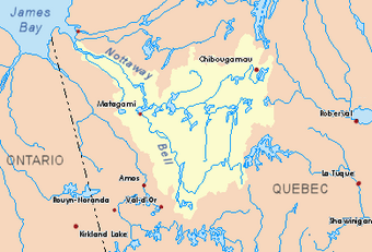 A map showing the watershed of Achepabanca Lake