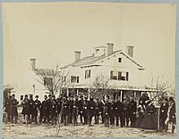 Officers of 4th N.Y. Heavy Art'y. (i.e. Artillery), Fort Corcoran, near Washington, D.C., 1862 LCCN2013647763