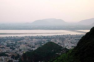 Vijayawada from Gandhi Hill