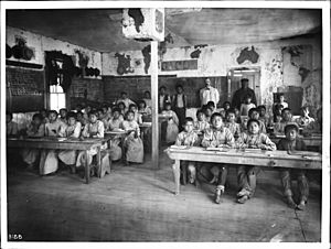 Walapai Indian school at Kingman, Arizona, ca.1900 (CHS-3188)