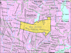 Census Bureau map of Hillsdale, New Jersey