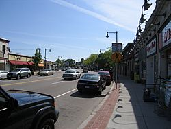 View of Centre Street in West Roxbury